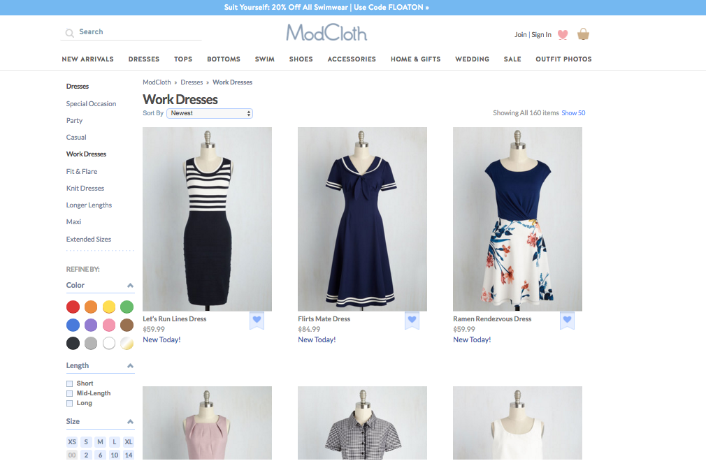 ModCloth_thematic_filters